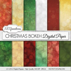 """""""CHRISTMAS BOKEH DIGITAL PAPER"""" featuring Holiday Christmas colored bokeh texture in red bokeh, green bokeh, gold, white and more. https://goo.gl/J7Bzti #digitalpapers #scrapbooking #design (Artfanaticus) Tags: artfanaticus digital paper scrapbooking instant download etsy background marketing material invitations party decor cards"""