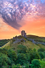 The Spirit of Corfe Castle (Michael Sowerby Photography) Tags: corfe castle spirit sunrise spectacular hill trees colour sky morning sun dorset uk purbeck hills isle ruins color outdoor landscape canon 5dmarkiii