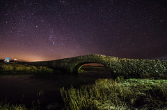 Water Under The Bridge (Glen Parry Photography) Tags: aberffraw northwales wales anglesey nikon d7000 glenparryphotography stars photography night nightphotography clearsky longexposure sigma bridge