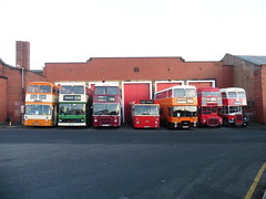 Leyland Lineup (Almost!) (North West Transport Photos) Tags: bus preservedbus preservation leyland atlantean leylandatlantean olympian leylandolympian leopard leylandleopard marshall aec routemaster leylandtitanpd2 pd2 titan selnec g510sft 510 northerncounties palatine palatinei c253frj twh809k tvt128g pmt potteriesmotortraction 6809 sn1128 b65pja gm gmbuses londonbus 414clt fdb334c