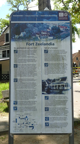 Information sign of Fort Zeelandia