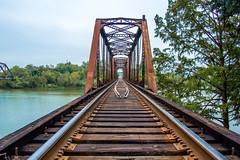 Rail Bridge (mikerastiello) Tags: waco texas tx wacotx wacotexas truss trussbridge railroadbridge traintracks