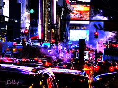 Big City Night (lloydboy52) Tags: bigcitynight bigcity night city nyc newyorkcity newyork traffic congestions reflections signage neon visualclutter nightlights nitelites nite