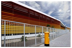 HFF (ggcphoto) Tags: primary school limassol cyprus fenced friday hff perspective sky cloud building structure post box