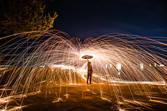 Cowboy (Evan's Life Through The Lens) Tags: camera sony a7rii lens glass 2470mm f28 canon zoom wide telephoto long exposure night light bright dark sparks steel wool fire amazing beautiful vibrant color orange yellow blue green autumn cold 2016