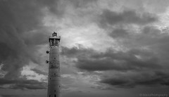 Before the Storm (MarioPhotographyG) Tags: lighthouse blackandwhite bw clouds sky sea seascape textures monochrome