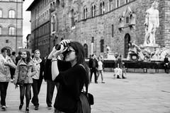 Camera & Cigarette (-Dons) Tags: florence italy piazzadellasignoria cigarette camera statue smoking