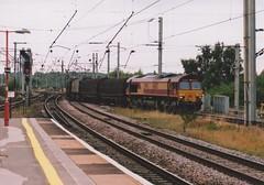 "English Welsh & Scottish Railways Liveried Class 66/0, 66157 (37190 ""Dalzell"") Tags: ews englishwelshscottishrailways revised maroongold db dbschenker gm generalmotors shed class66 class660 66157 bankquay warrington"