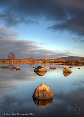 Evening Light on Loch Ba (silverlarynx) Tags: scotland loch ba rannoch moor highlands evening reflections