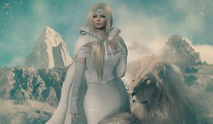Fae~Once upon a snowy day... (Skip Staheli CLOSED FOR CLIENTS) Tags: skipstaheli faenocturne secondlife sl fantasy narnia mountain winter snow dreamy digitalpainting avatar virtualworld lion cold