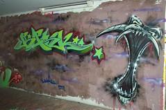 Bask (Ruhrgebiets Farben) Tags: graffiti 2002 hall fame schrenkamp tunnel gladbeck