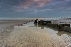 The ripple effect (Through Bri`s Lens) Tags: sussex lancing seadefence groyne lowtide pipeline sand shore seashore brianspicer canon5dmk3 canon1635f4