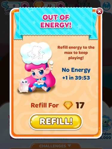 Candy Blast Mania Energy: screenshots, UI