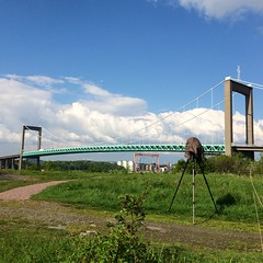 lvsborgsbron BTS (Mabry Campbell) Tags: camera bridge architecture gteborg photography foot photo europe foto photographer image sweden gothenburg may photograph bild scandinavia bts iphone 2014 lvsborgsbron vild iphoneography mabrycampbell