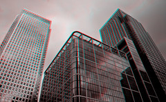 3d_canwarlf2 (The_Jon_M) Tags: uk england urban london stereogram 3d anaglyph wharf docklands greater canary february feb canarywharf 3ds 2014 greaterlondon redcyan