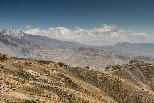 Vue sur le massif des Annapurna (8100m)