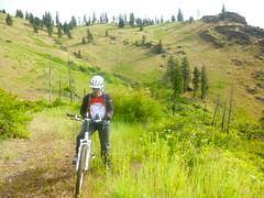 Deer Creek Cabin Overnighter Ride (Doug Goodenough) Tags: waha bike bicycle camping trip cabin idaho june 2014 scott sadie pedals spokes salmon river canyon views vista mud drg453114p drg53114pdeerflat drg531