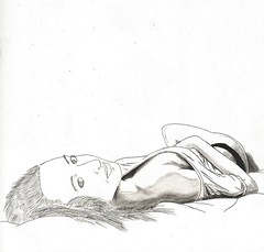 Untitled (Pages from my sketchbook) Tags: sexy art girl pencil sketch bed drawing lingerie sensual resting contemplative realism