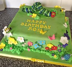 Garden Hungry Caterpillar Cake