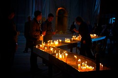 (seanlewis) Tags: church lowlight candles serbia saintsava