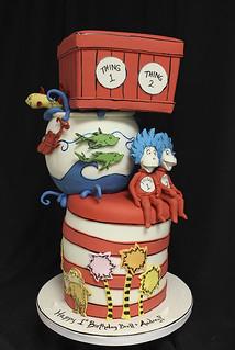 Dr Seuss Thing 1 thing 2 cake