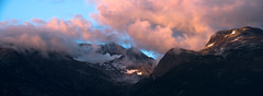 Armchair Glacier (P.A.B.) Tags: sunset summer panorama snow canada mountains rock clouds whistler evening britishcolumbia glacier pinetrees alpenglow whistlerblackcomb nd64 stitchedtogether armchairglacier nikond800e nikonnikkor70200mmf28afsgedvrii