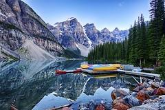 Stunning Moraine Lake (John Andersen (JPAndersen images)) Tags: longexposure reflections rockies banff geology morainelake cambrian
