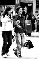 4/12 (johey24) Tags: china street people blackandwhite bw raw shanghai faces candid smiles expressions peoplewatching happypeople streetstories