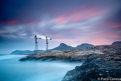 wind power (Paco Conesa) Tags: sunset atardecer power wind molinos 2014 calblanque pacoconesa