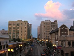 Nightfall, Edgewater (rwchicago) Tags: sunset sky chicago night evening edgewater brynmawr hopperesque