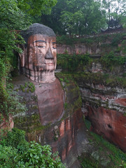 Giant Buddha, Leshan (Niall Corbet) Tags: china statue sandstone buddha carving unescoworldheritagesite unesco leshan sichuan giantbuddha