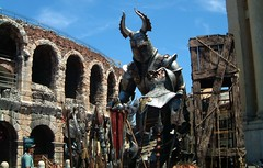 Sets stored outside Arena di Verona (tedesco57) Tags: 2001 set opera knights operaalfresco