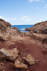 Life on Mars (|MNC Photography|) Tags: red mars beach rock islands sand planet isla lanscape menorca marte rocas baleares balearic redplanet calapregonda