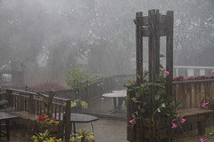 Chicagoland July Thunder Storm (RickDrew) Tags: wood sky storm tower rain weather clouds illinois day towers il deck thunder soaked oaklawn