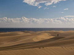 Man in the Dunes I (polarapfel) Tags: travel tourism nature grancanaria outdoors landscapes spain europe leisure canaryislands olympuszuikodigitaled1260mmf2840swd