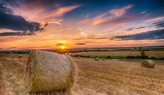 bale sunset