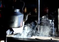 my morning cuppa in the hills (pranav_seth) Tags: morning tea smoke kettle chai himachal himalayas homestay spiti himachalpradesh cuppa tash angeethi incredibleindia