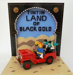 Lego Tintin Land of Black Gold (Brickbaron) Tags: movie book comic lego belgium snowy novel tintin herge pitou theadventuresoftintin drmuller thompsonandthompson