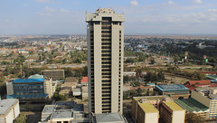 Times Tower - Nairobi, Kenya (SE9 London) Tags: africa above county new city roof building tower skyline architecture modern skyscraper buildings square town downtown cityscape view floor kenya top african centre nairobi capital towers central style bank center aerial international convention afrika conference times cbd uhuru viewpoint kenia helipad afrique kenyatta kicc