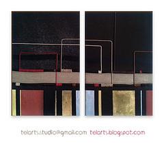 Pentagrama Solar (Telarts) Tags: pintura cuadro artetextil