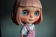 (Isa Mira) Tags: pink cute hair landscape doll ooak carving blythe custom eyelids dafnery dafnerydolls