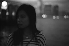 A night inside the city (TAHUSA) Tags: camera leica 2 blackandwhite bw film hongkong 50mm open waterfront bokeh iso400 f14 14 wide version 400 epson edu ultra m2 summilux v2 5014 arista v700