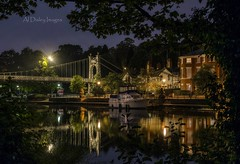 The Mirror`s Frame. (alundisleyimages@gmail.com) Tags: longexposure bridge trees nature water architecture night buildings reflections boats cityscape nightlights transport chester naturalframe riverdee nikond7100