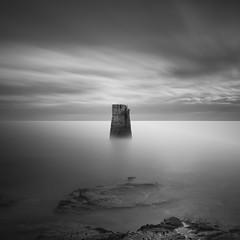Monolith (Rolie.K) Tags: longexposure sea sky blackandwhite bw seascape monochrome le stmaryslighthouse leefilter bigstopper