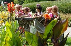 Kindergartenkinder  ... auf Schmetterlingsschau ... (Kindergartenkinder) Tags: dolls margie annette wasserburg burg tivi hülshoff havixbeck setina himstedt annemoni kindergartenkinder sanrike