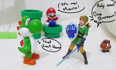 WHAT THAT F* (ReHashimoto) Tags: toy funny action nintendo mario figure link videogame yoshi gomba