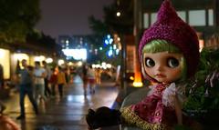 Watching the street life at KuanZhai