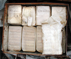 "A tin of biscuits in an Antarctic Food Cache • <a style=""font-size:0.8em;"" href=""http://www.flickr.com/photos/16564562@N02/15060345952/"" target=""_blank"">View on Flickr</a>"