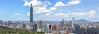 虎山峰寬景 (JIMI_lin) Tags: panorama widescreen 101 taipei 陽明山 內湖 信義區 觀音山 大屯山 南港 圓山大飯店 寬景 虎山峰