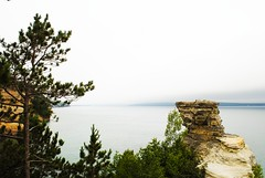 Miners Castle (ekelly80) Tags: trees summer lake water rocks view michigan roadtrip upperpeninsula lakesuperior rockformation picturedrocksnationallakeshore minerscastle august2014